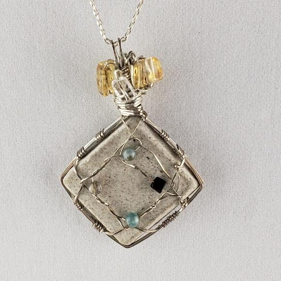 Jewelry Wire Wrap Power Stone Pendant Poshmark